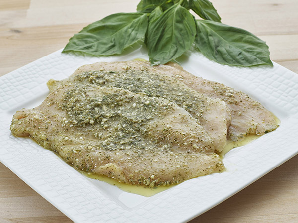 Marinated Pesto Chicken Cutlet