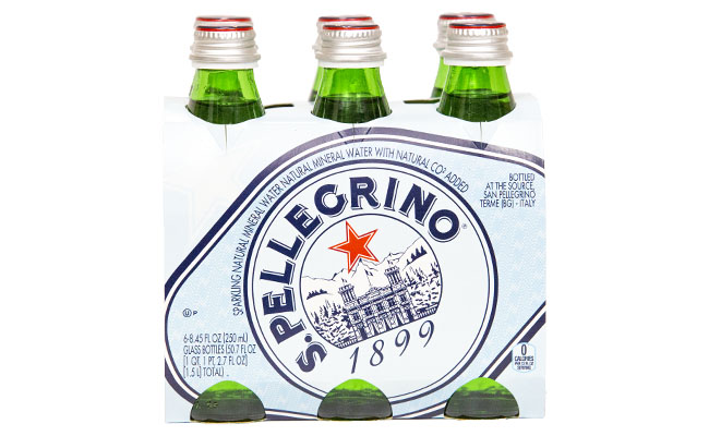 San Pellegrino Sparkling Water Glass Bottles 6pk