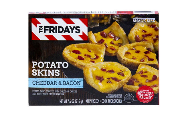 T.G.I. Friday's Potato Skins Stuffed with Cheddar Cheese & Bacon