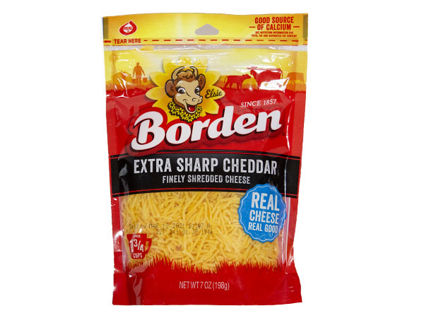Borden Shreds Extra Sharp Cheddar