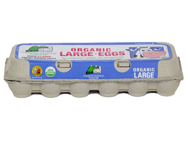 Mountainside Farms Organic Cage Free Large Eggs