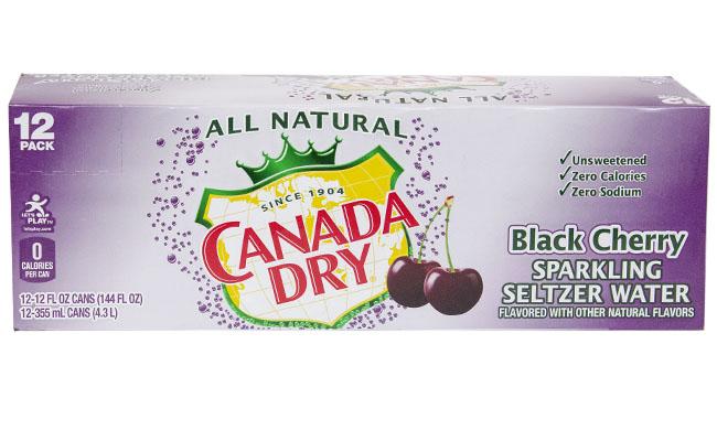 Canada Dry Black Cherry Seltzer 12pk