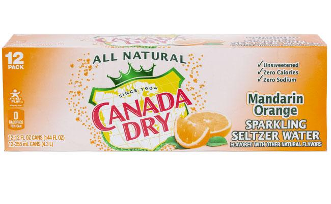 Canada Dry Mandarin Orange Seltzer 12pk