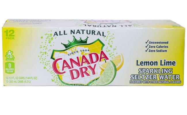 Canada Dry Seltzer Lemon Lime 12pk