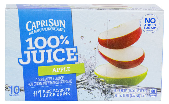 Capri Sun 100% Apple Juice 10 Pouch