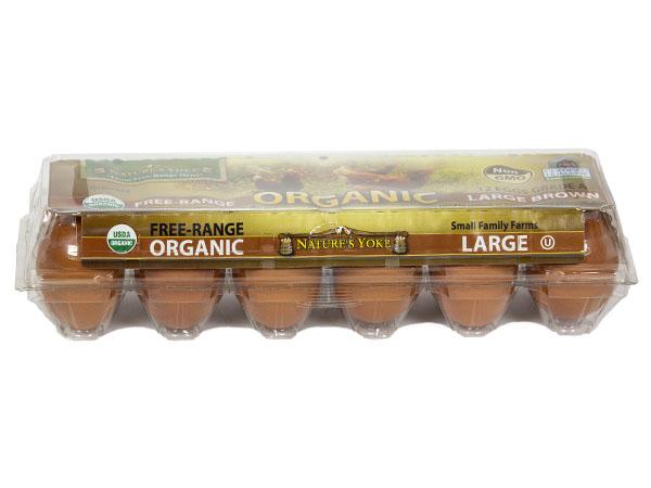 Natures Yolk Organic Brown Eggs