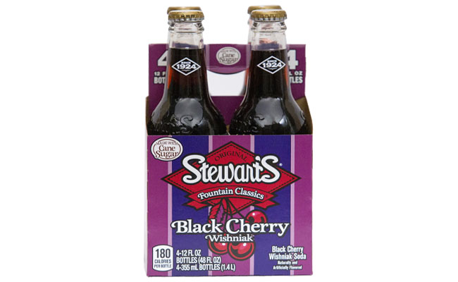 Stewart's Black Cherry Soda 4pk