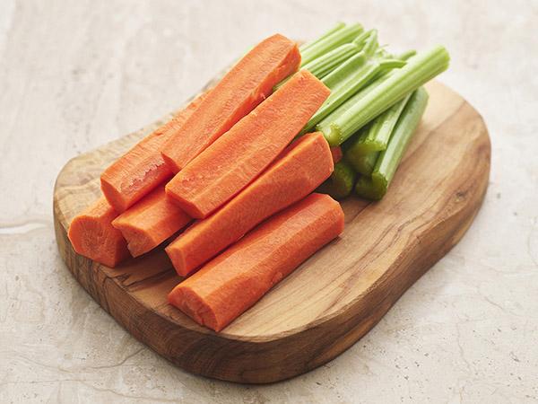 Cut Celery & Carrots