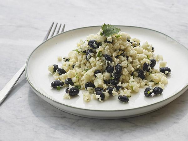 Cauliflower Rice W/ Black Bean