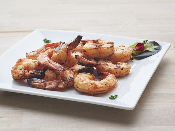 Blackned Grilled Tail-On Shrimp