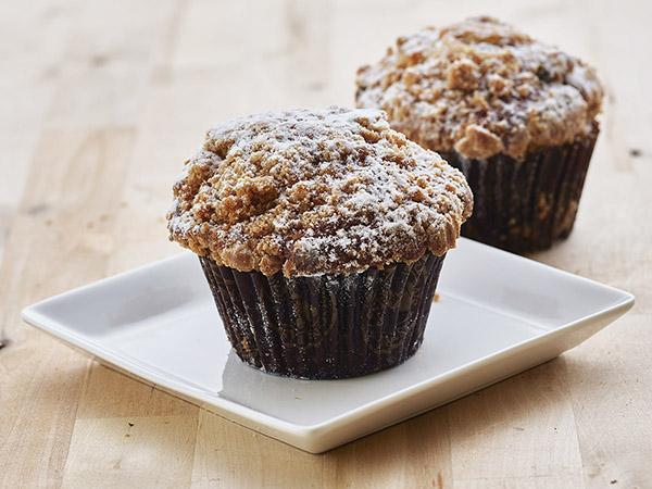 Coffee Cake Yogurt Muffins