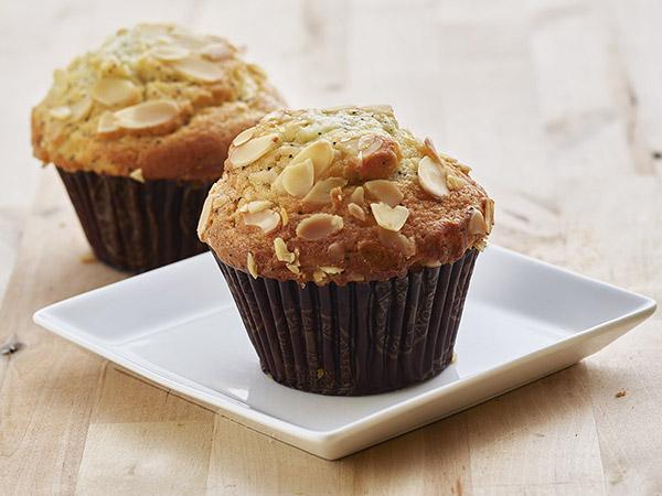 Almond Poppy Yogurt Muffins