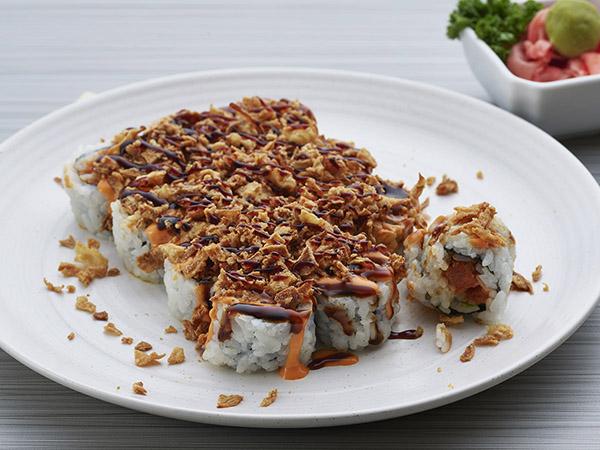 Spicy Tuna With Onion Crunch