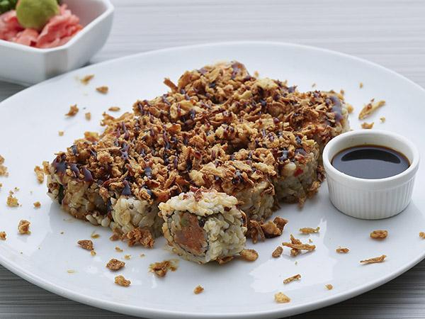 Brown Spicy Tuna W Onion Crunch