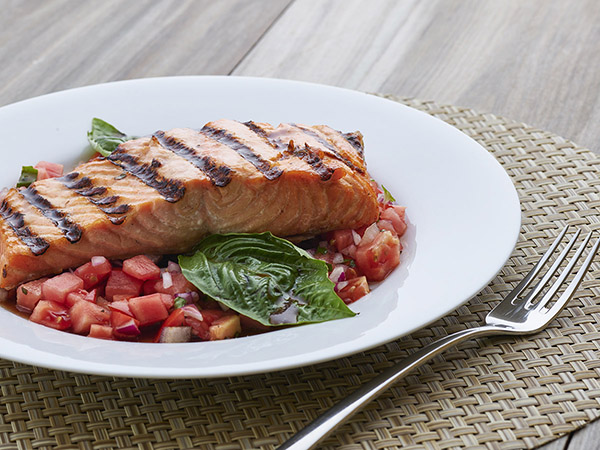 Salmon Brushetta