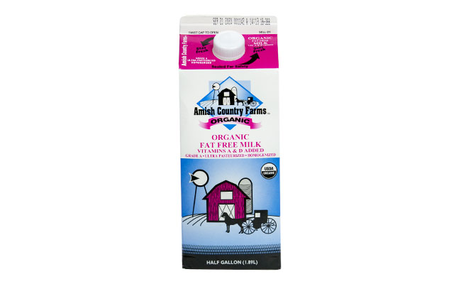 Amish Country Farms Organic Fat Free Milk
