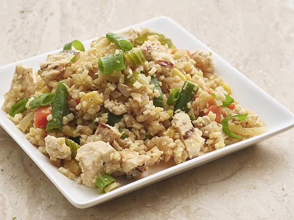 Grilled Chicken Cauliflower Rice