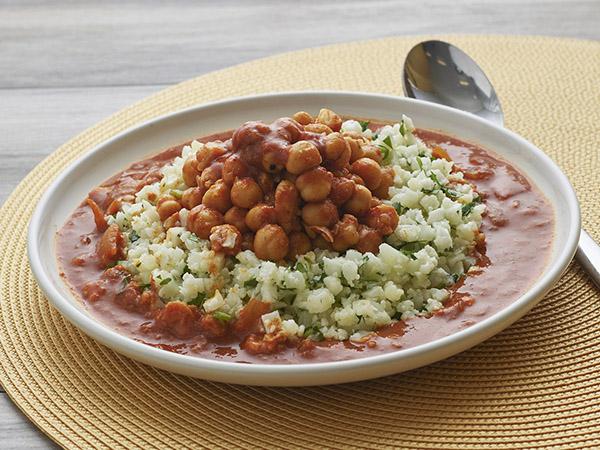 Chickpeas Marsala W/ Cauliflower