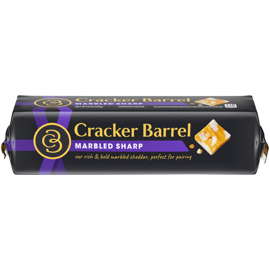 Cracker Barrel Block Cheese Marble Sharp