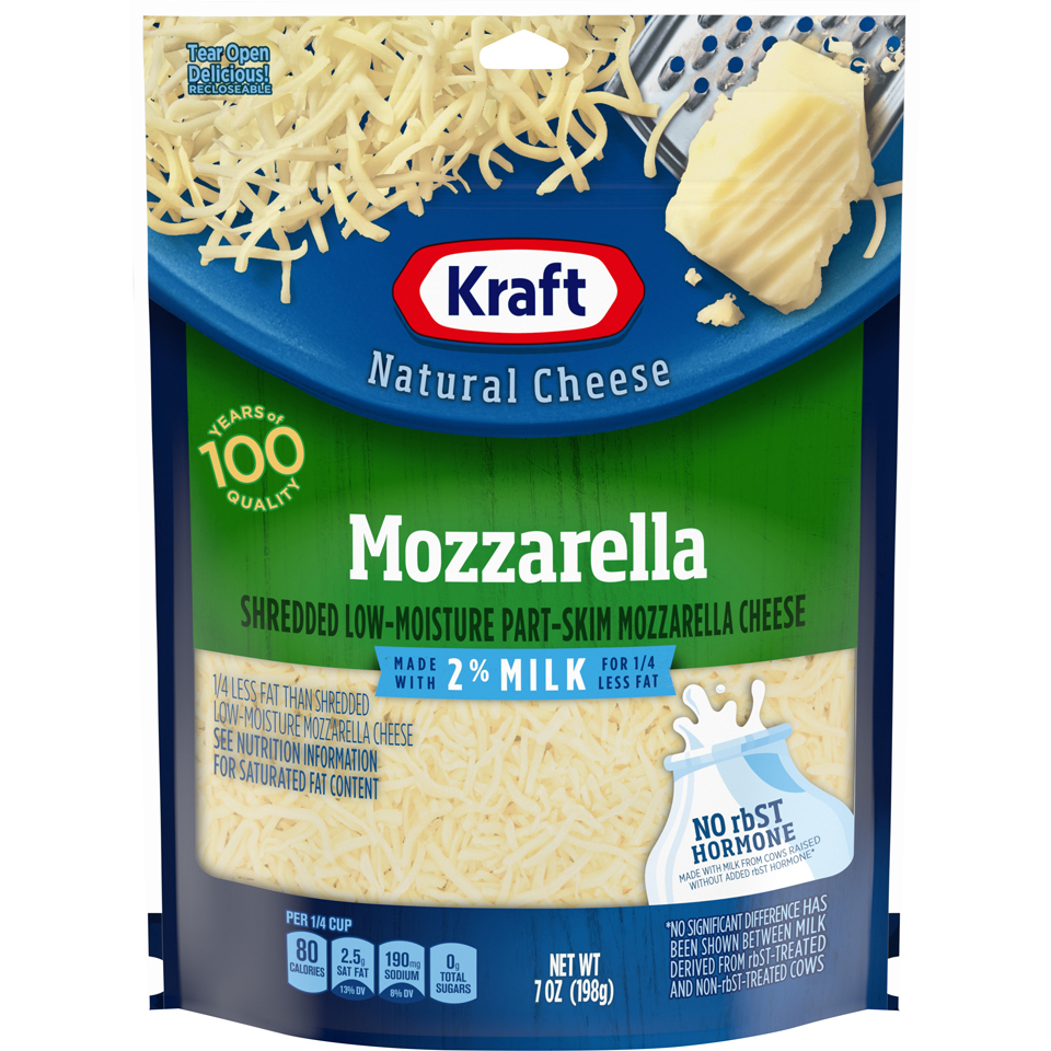 Kraft Shreds Natural 2% Mozzarella