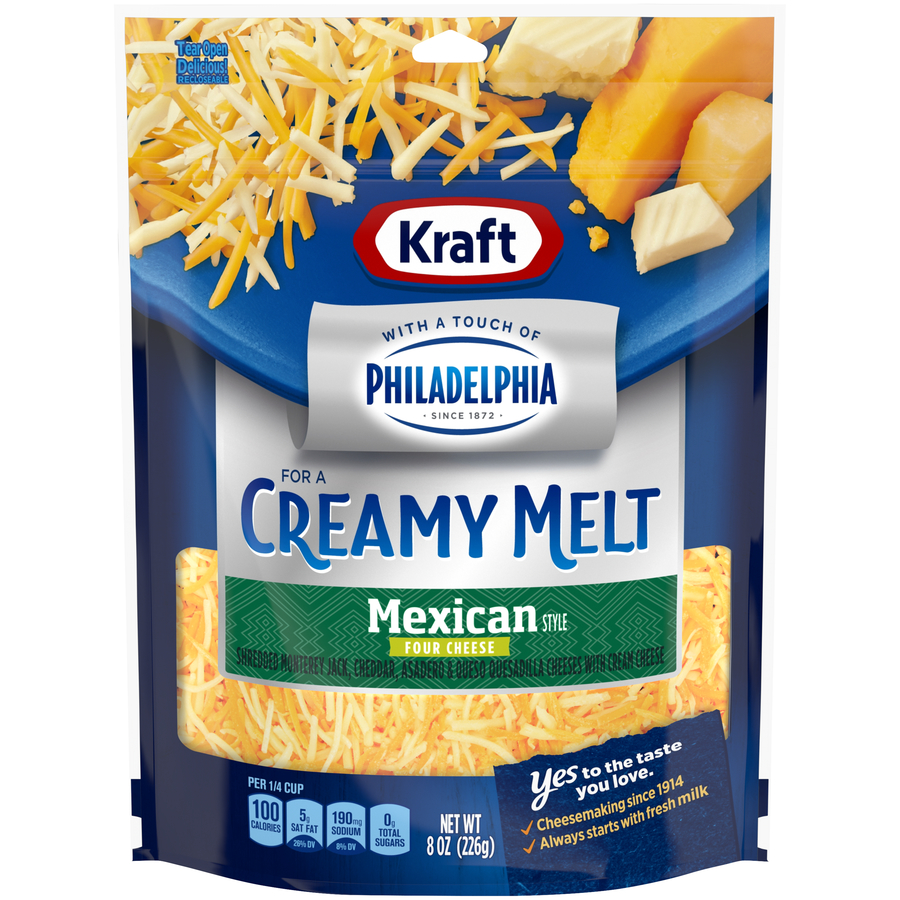 Kraft Shreds Fine Mexican 4 Cheese