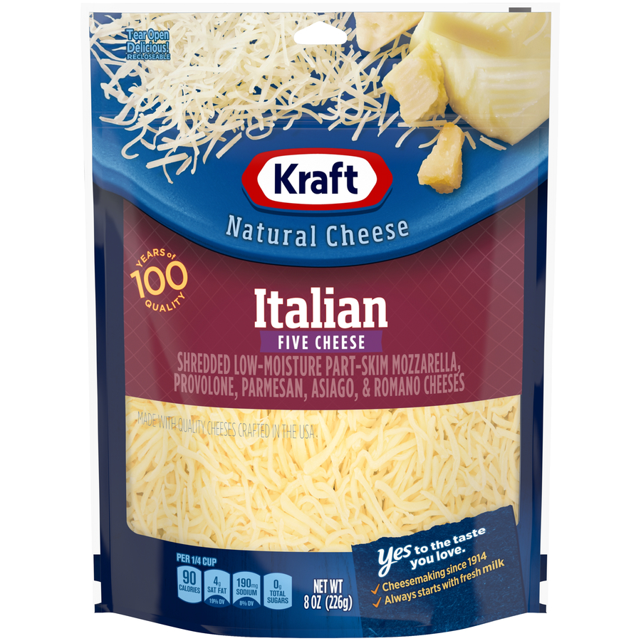 Kraft Shredded Italian 5 Cheese