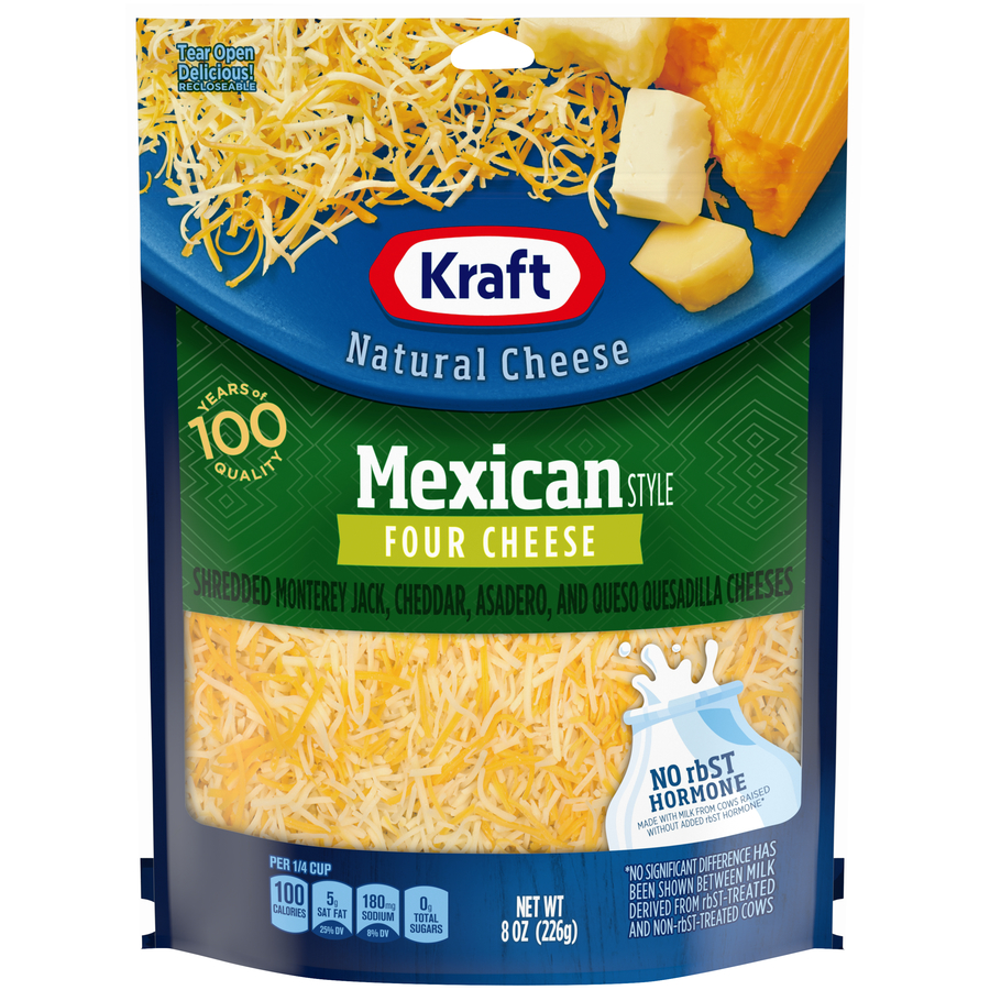 Kraft Shreds Mexican 4 Cheese