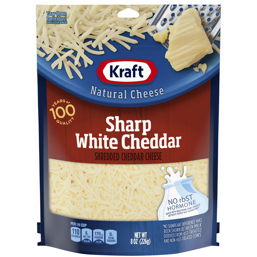 Kraft Shreds Natural Sharp White Cheddar