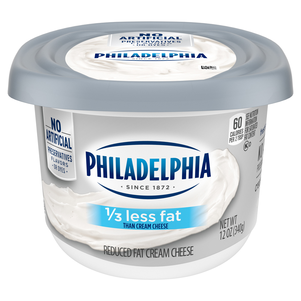 Kraft Philadelphia Cream Cheese Soft Spread 1/3 Less Fat