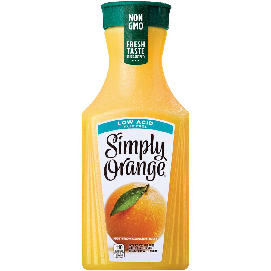 Simply Orange Juice Pulp Free Low Acid