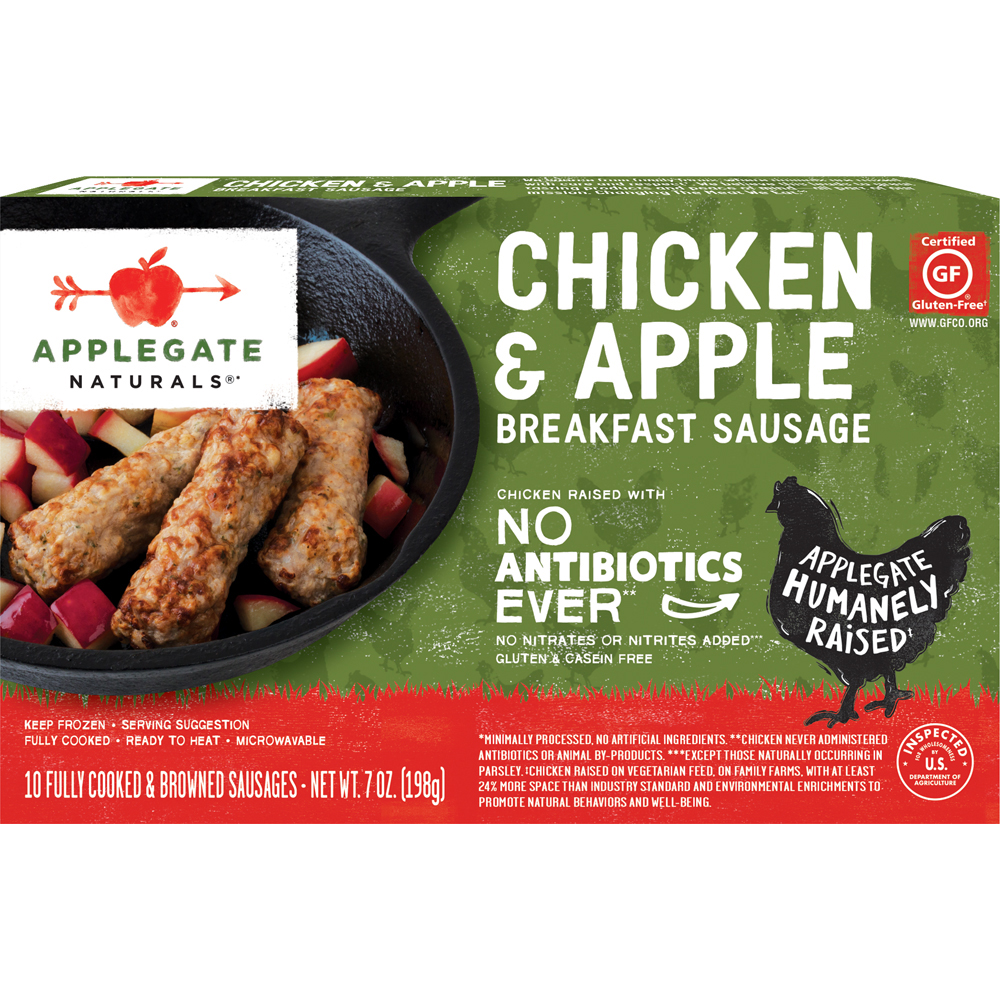 Applegate Farms Natural Gluten Free Chicken & Apple Sausage