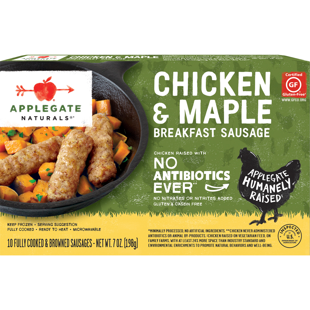 Applegate Farms Natural Gluten Free Chicken & Maple Breakfast Sausage