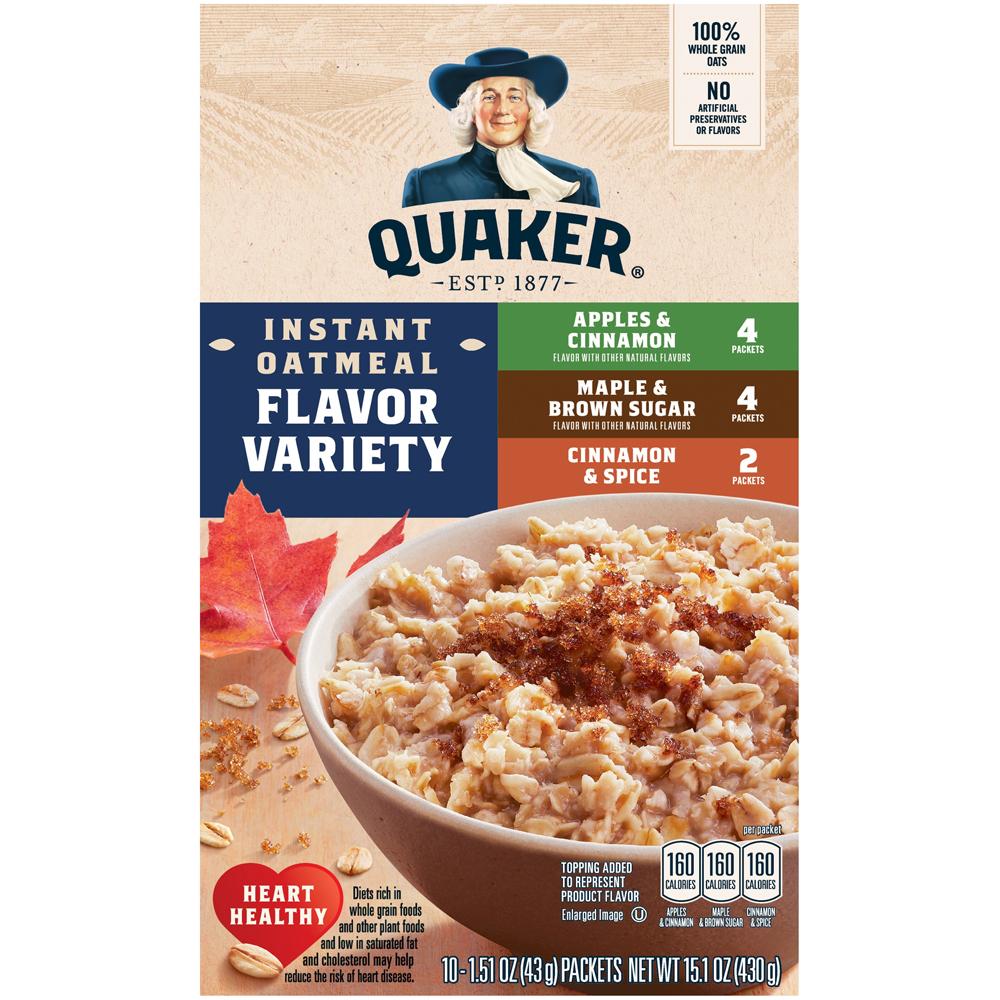 Quaker Flavor Variety 10 Pk