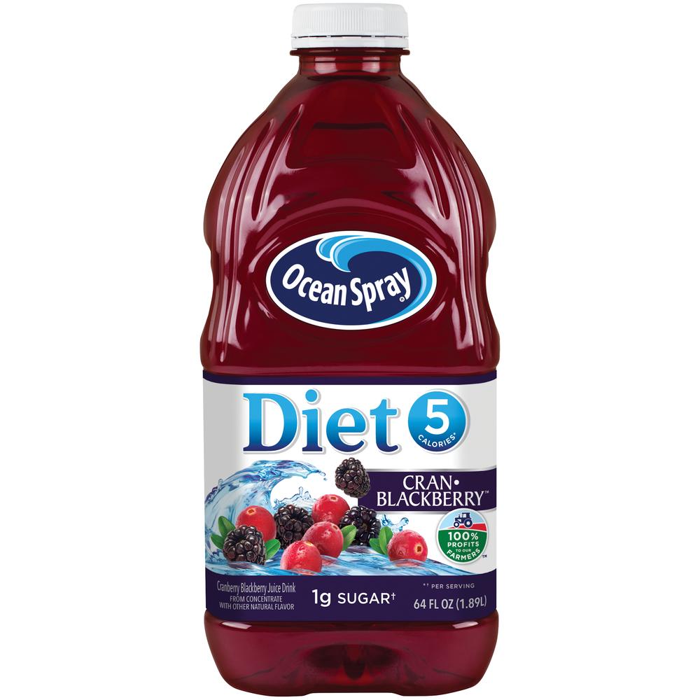Ocean Spray Juice Diet Cranberry Blackberry