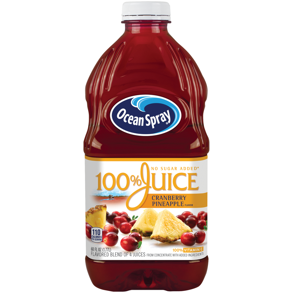 Ocean Spray 100% Cranberry Pineapple