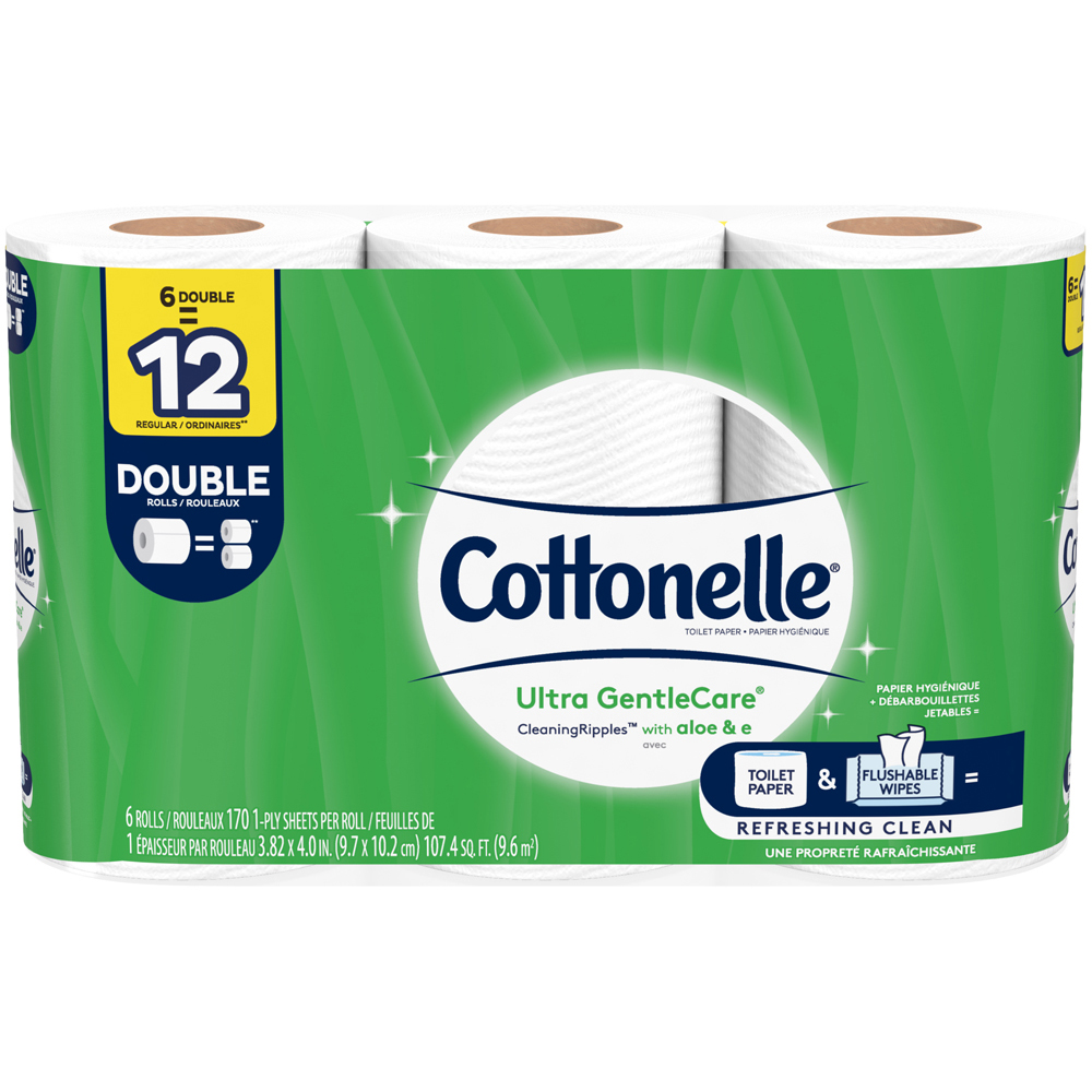 Cottonelle GentleCare with Aloe 6 pk