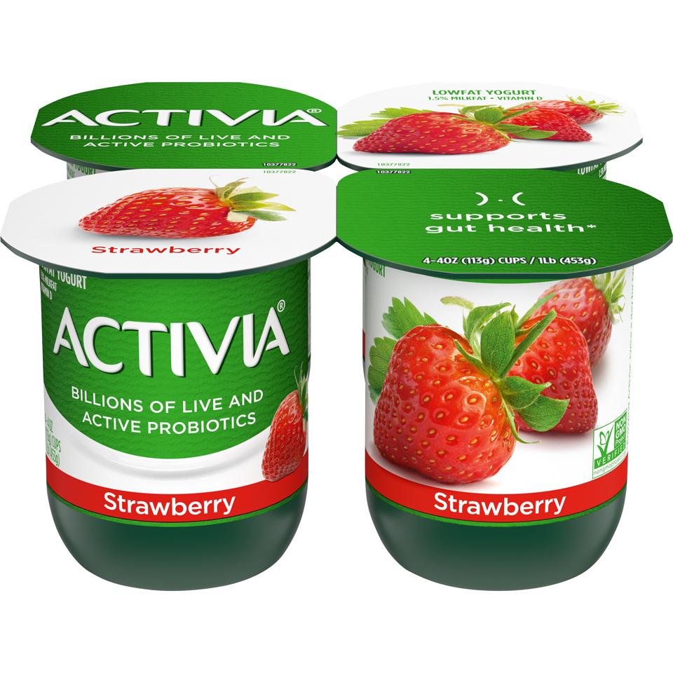 Dan Activia 4Pk Strawberry