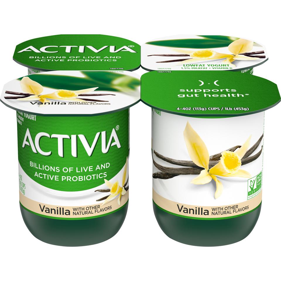 Dan Activia 4Pk Vanilla