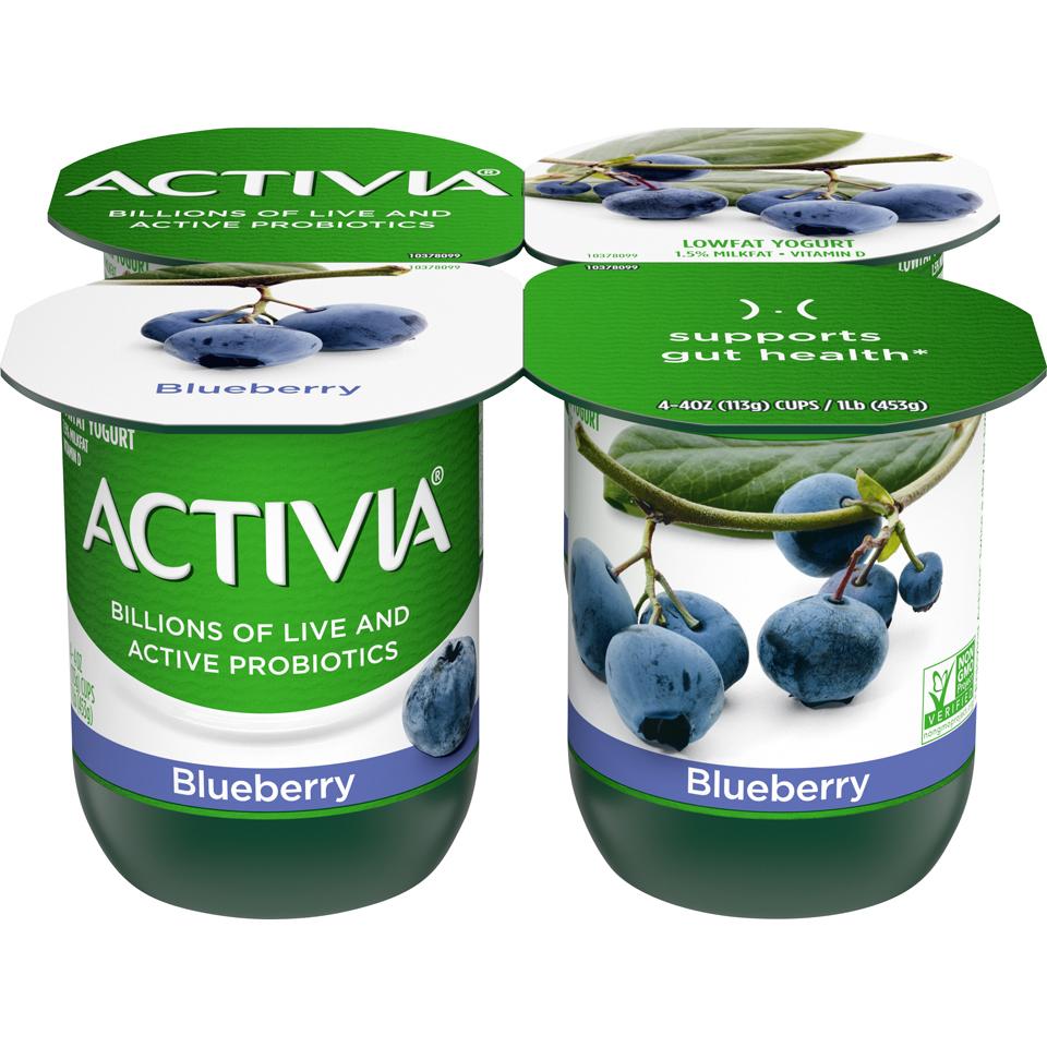 Dan Activia 4Pk Blueberry