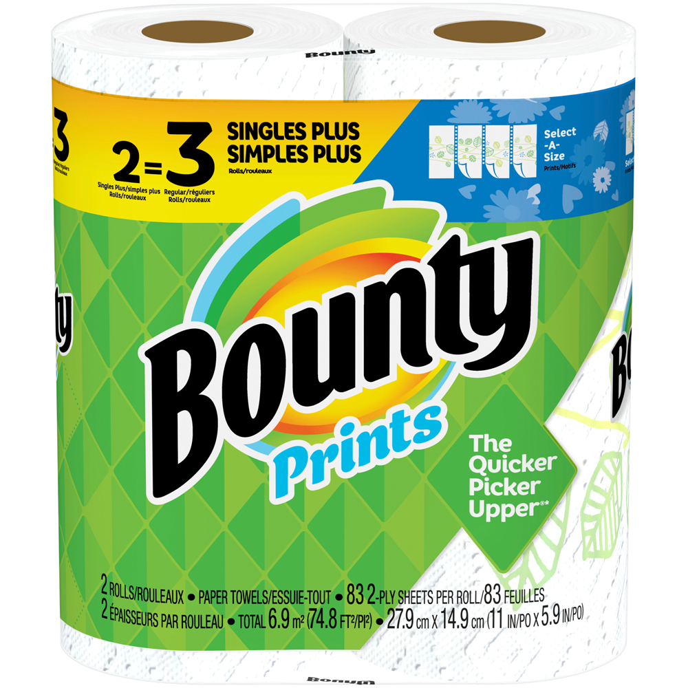 Bounty Print Select a Size 2 pk