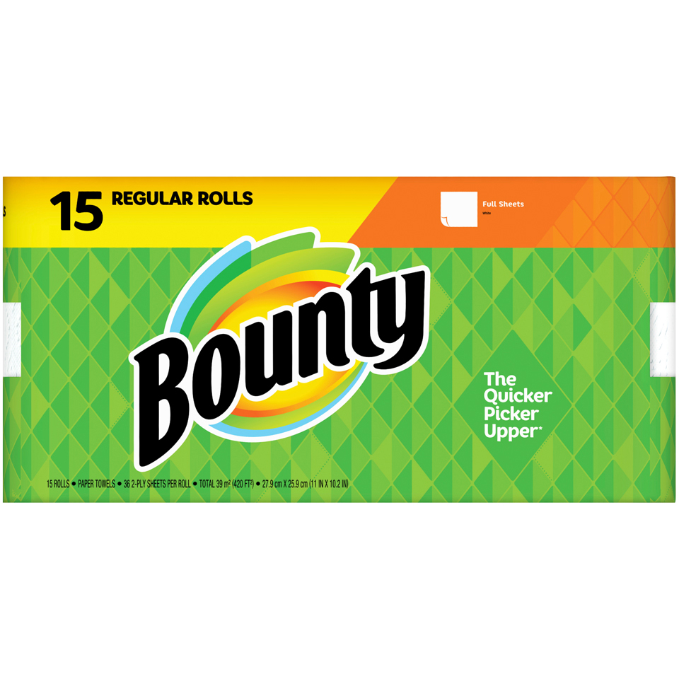 Bounty Paper Towels Full Sheet 15 pk