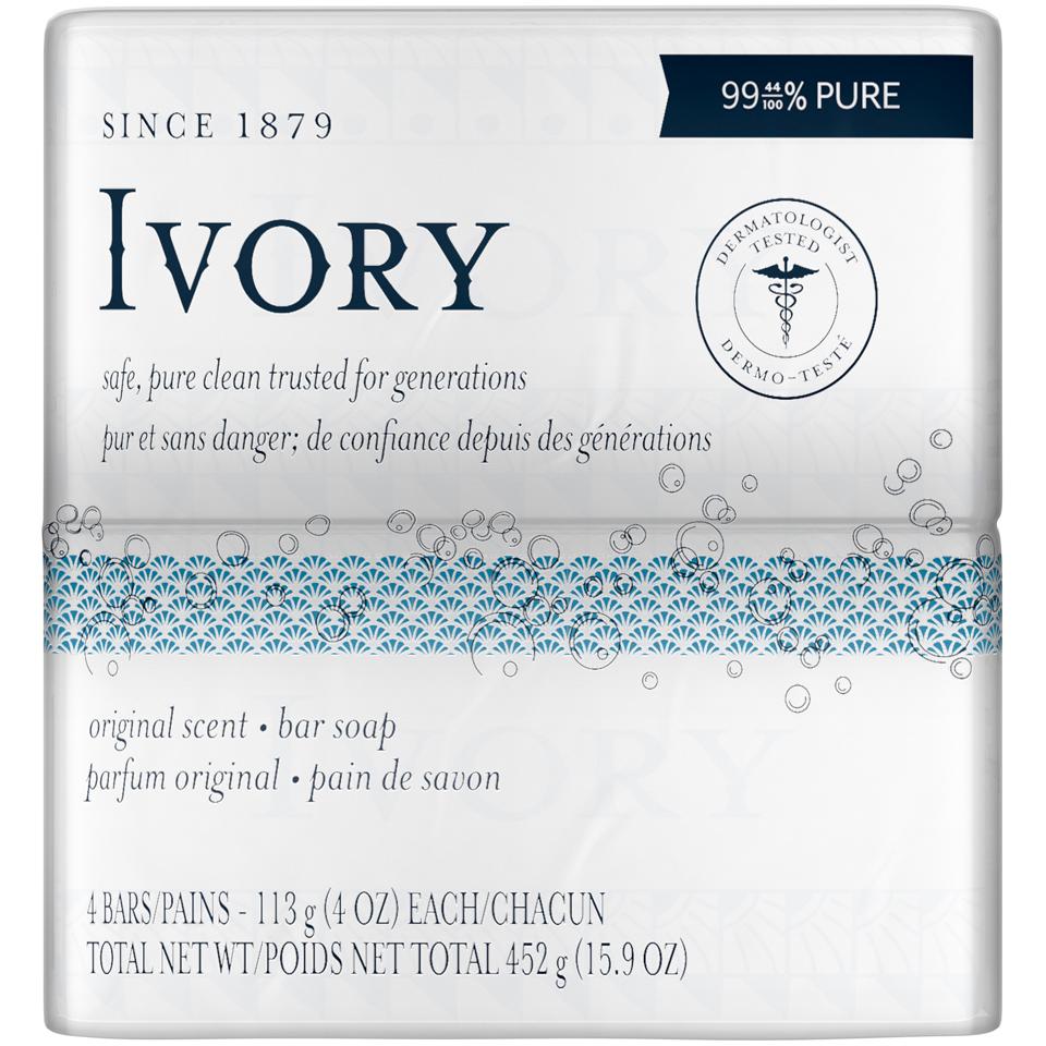 Ivory Orignal Bar Soap 4 pack