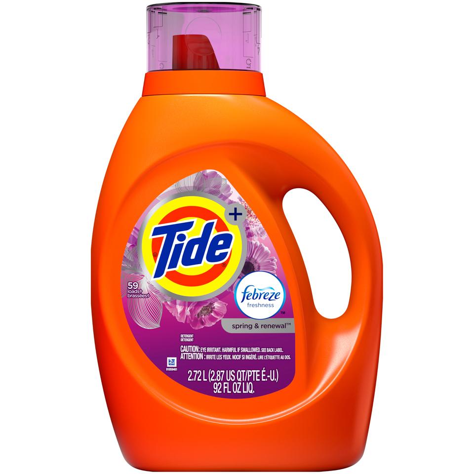 Tide Laundry Plus Febreze Spring