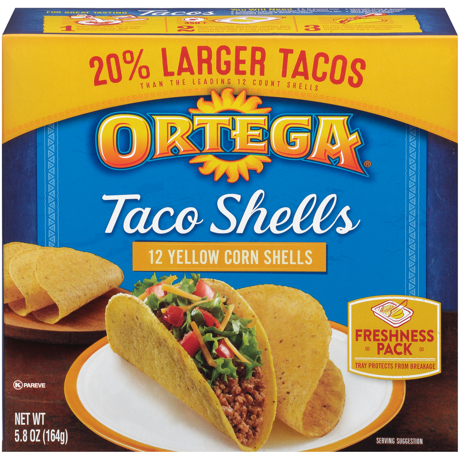 Ortega Taco Shells Yellow Corn 12 ct