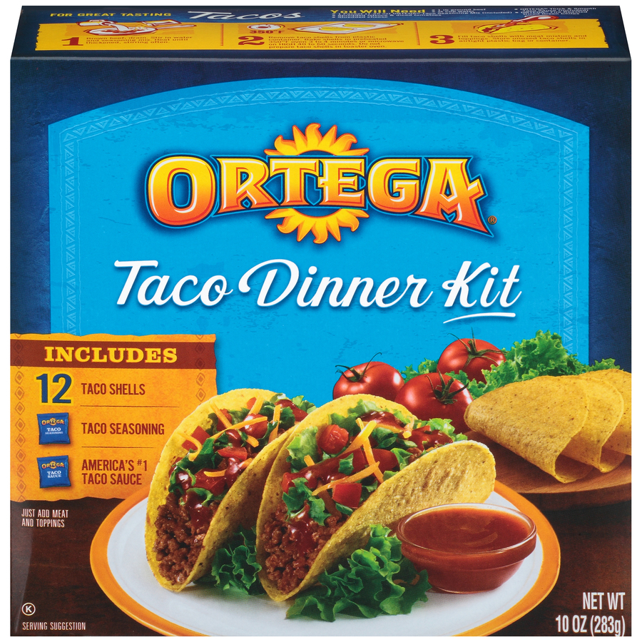 Ortega Crunchy Taco Dinner Kit 12 ct