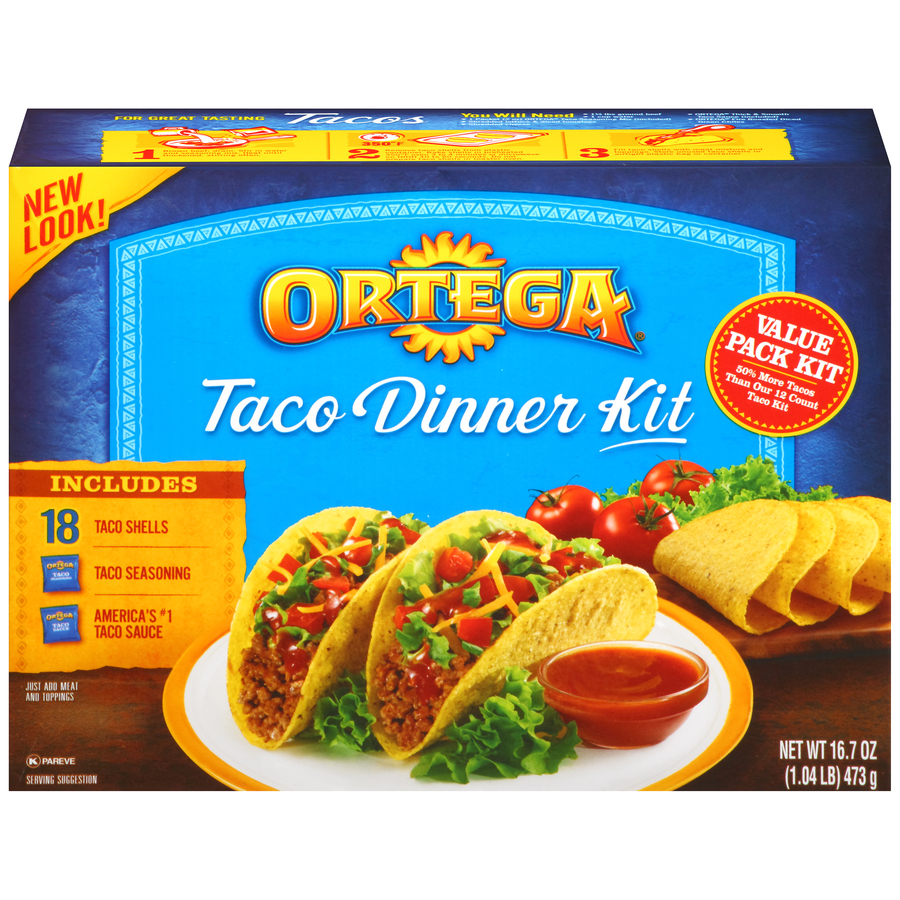 Ortega Taco Dinner Kit 18 ct