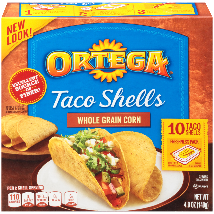 Ortega Taco Shells Whole Grain Corn