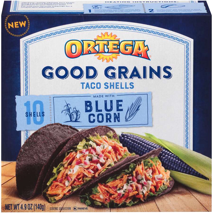 Ortega Good Grains Blue Corn Shells