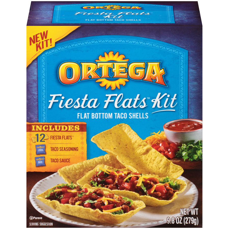 Ortega Fiesta Flats Dinner Kit 12 ct