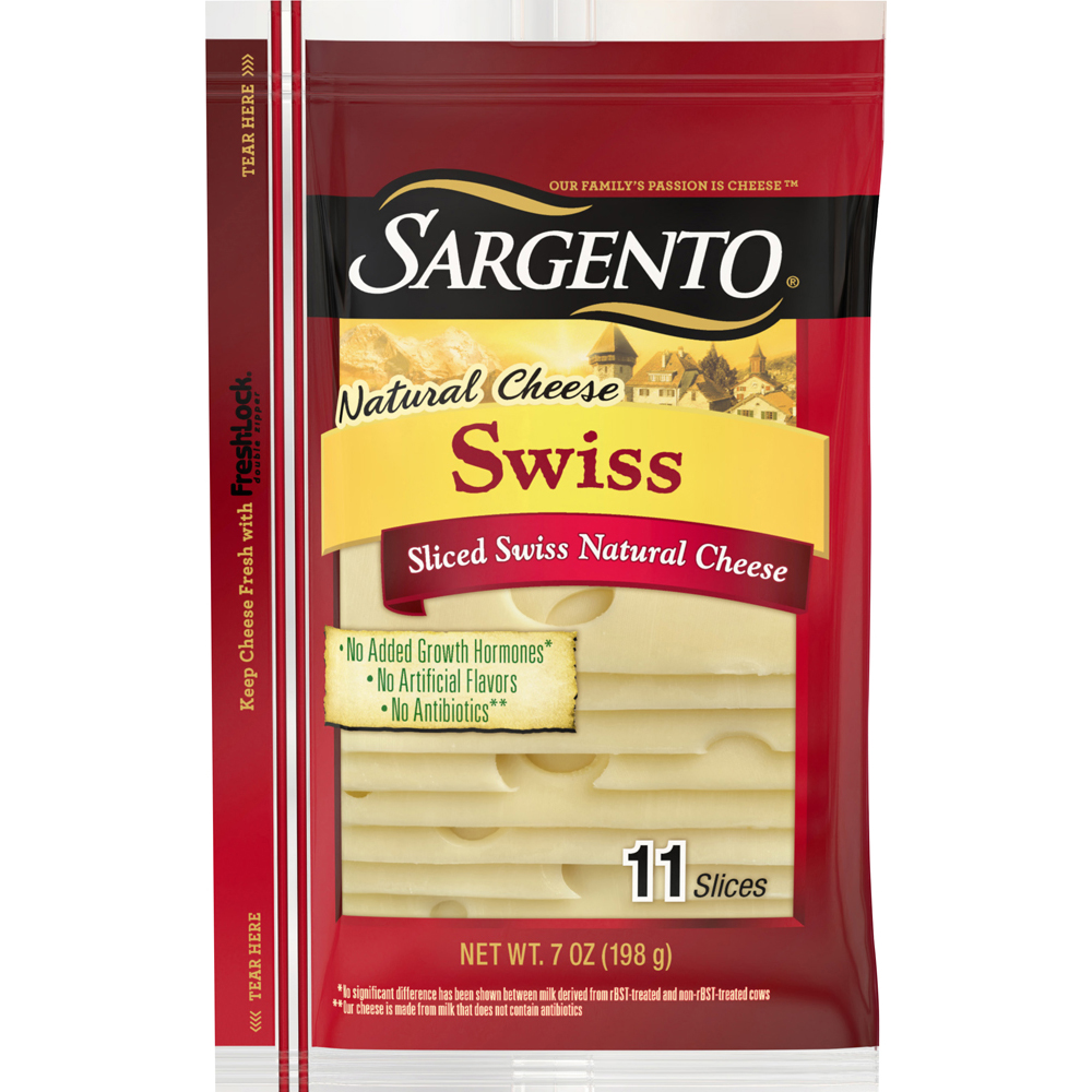 Sargento Sharp Swiss Cheese Slices